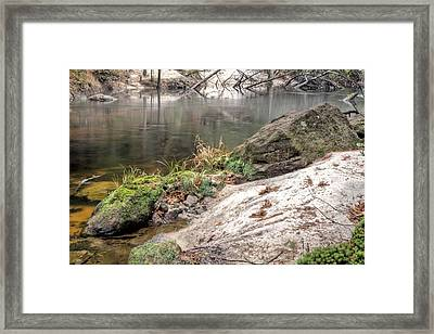 Along The Black Water River Framed Print