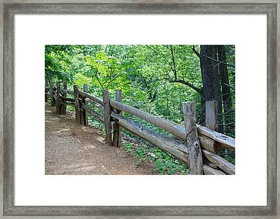 Along The Blue Ridge Parkway IIi Framed Print by Suzanne Gaff