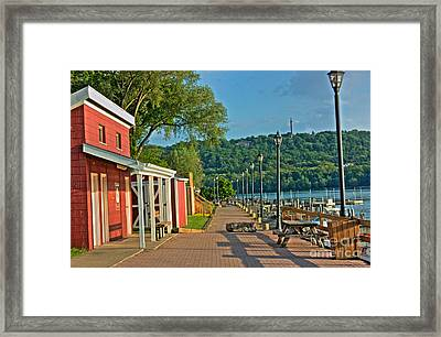 Along The Boardwalk Framed Print