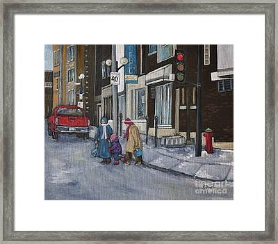 Along The Boulevard Framed Print by Reb Frost