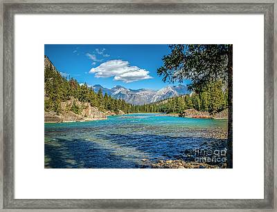 Along The Bow River Framed Print by Bob and Nancy Kendrick