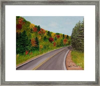 Along The Cabot Trail Framed Print