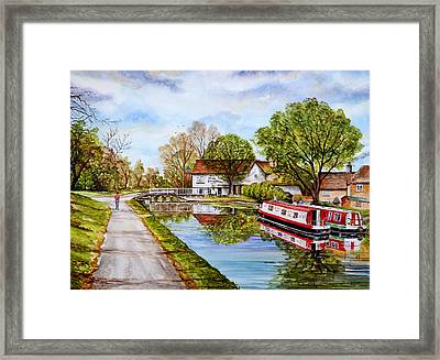 Along The Canal Framed Print by Andrew Read