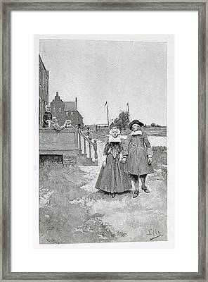 Along The Canal In Old Manhattan, Illustration From The Evolution Of New York By Thomas A. Janvier Framed Print
