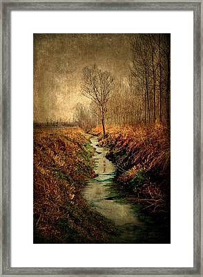 Along The Canal Framed Print