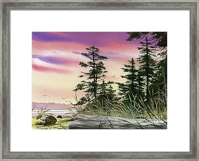 Along The Coast Framed Print by James Williamson