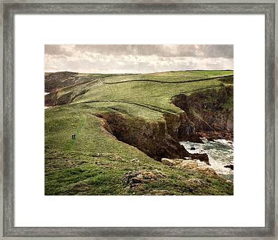 Along The Coast Path Framed Print