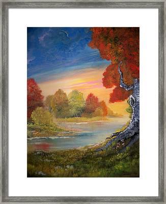 Along The Creek Framed Print