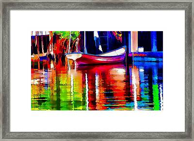 Along The Dock Framed Print