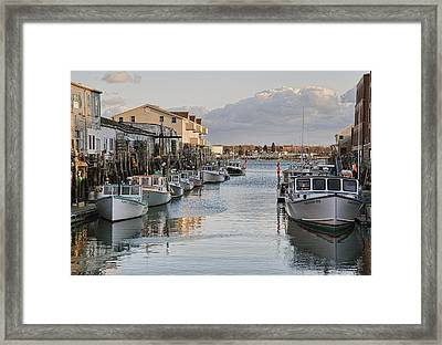 Framed Print featuring the photograph Along The Docks by Richard Bean