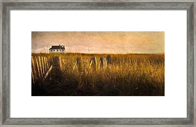 Along The Fence Framed Print by Bill Wakeley