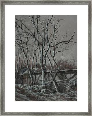 Along The Greenway 2 Framed Print by Janet Felts