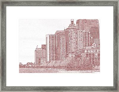 Along The Harbor New York Framed Print by Thomas Fouch