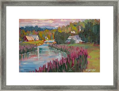 Along The Housatonic Framed Print by Len Stomski