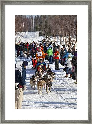 Along The Iditarod Route In Anchorage Framed Print