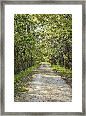 Along The Katy Trail Framed Print by Cricket Hackmann
