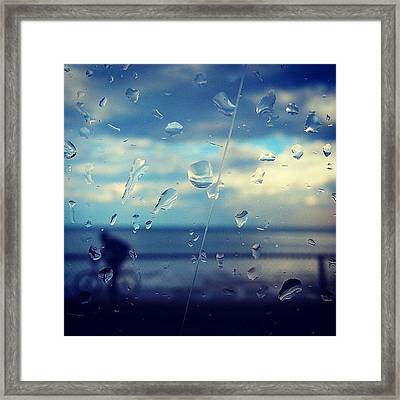 Along The Lakeshore After A Storm Framed Print