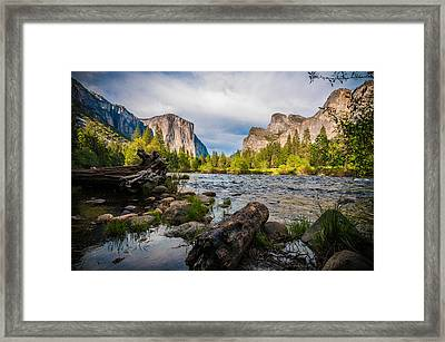 Along The Merced Framed Print by Kristopher Schoenleber