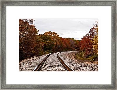 Along The Rails Framed Print by Julie Clements