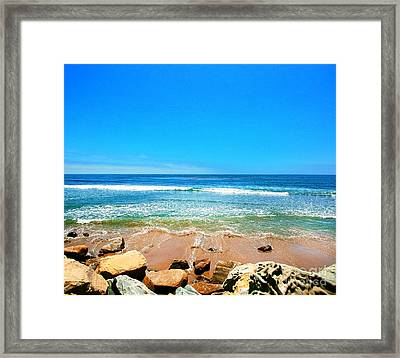 Along The Rincon California Surf Spot From The Book My Ocean Framed Print by Artist and Photographer Laura Wrede