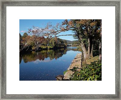 Along The River In Shelbourne Falls Framed Print