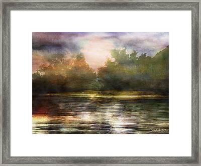 Along The Riverside Framed Print