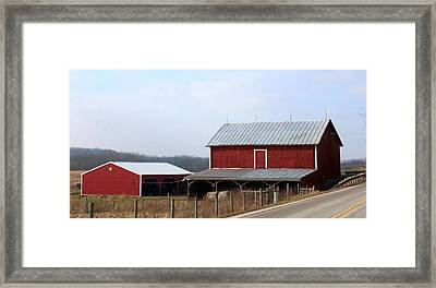 Along The Roadway Framed Print by R A W M