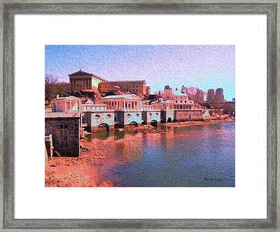 Along The Schuylkill At The Philadelphia Waterworks Framed Print by Bill Cannon