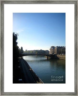 Along The Seine Framed Print by Europe  Travel Gallery