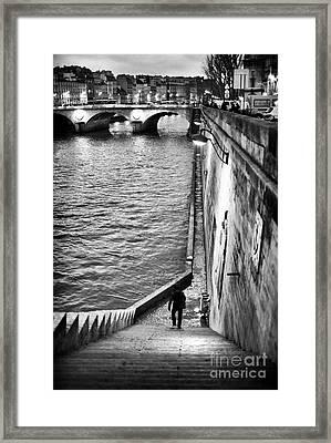 Along The Seine Framed Print
