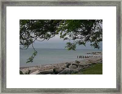 Framed Print featuring the photograph Along The Shore by Kay Novy
