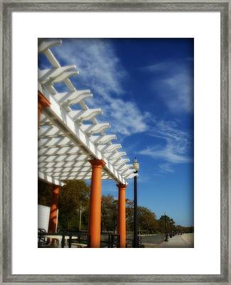 Along The Shore Framed Print by Kristine Nora