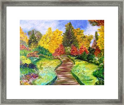 Along The Shunga Trail Framed Print