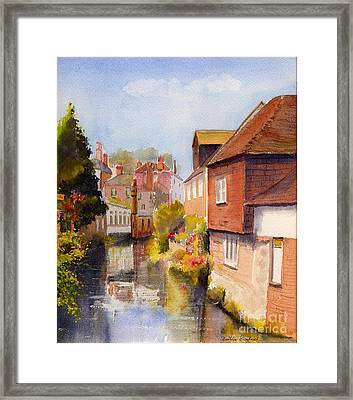 Framed Print featuring the painting Along The Stour Canterbury by Beatrice Cloake