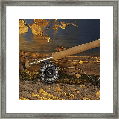 Along The Stream Framed Print by Jerry McElroy