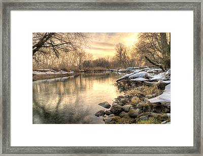 Along The Thames River  Framed Print