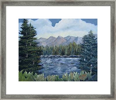 Framed Print featuring the painting Along The Way by Suzanne Theis