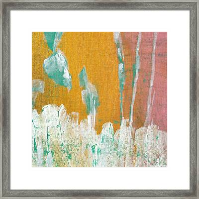 Framed Print featuring the painting Along The White Picket Fence C2013 by Paul Ashby