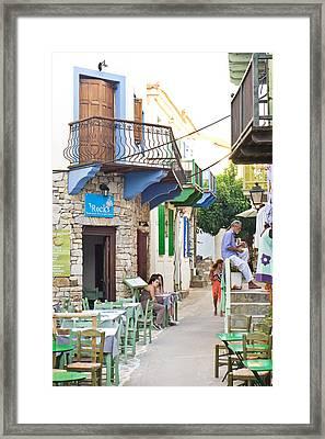 Alonissos Old Village Framed Print by Tom Gowanlock