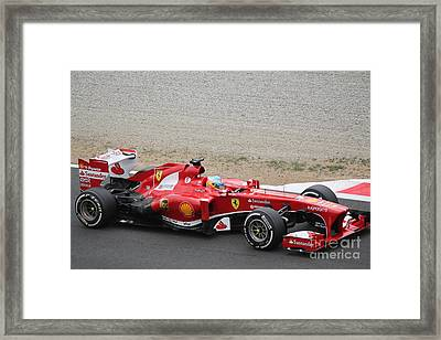 Alonso In His Ferrari Framed Print by David Grant