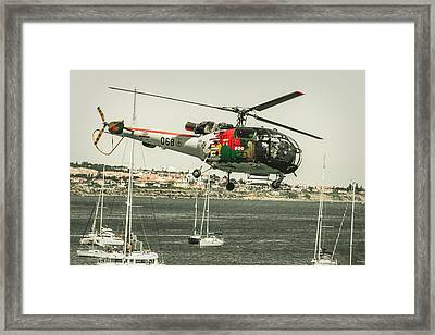 Alouette IIi - Air Race Series X Framed Print by Marco Oliveira