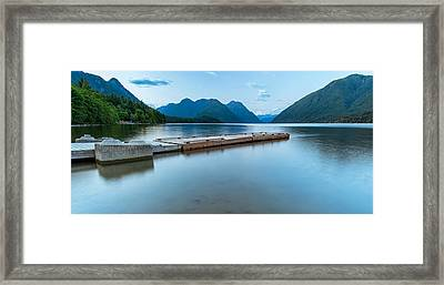 Alouette Lake Dock Framed Print