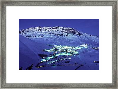 Alpe Dhuez, France Framed Print by Del Mulkey