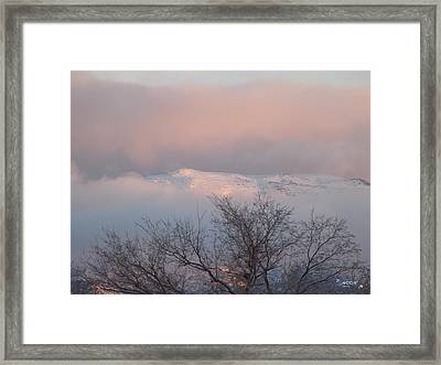 Framed Print featuring the photograph Alpenglow by Deborah Moen