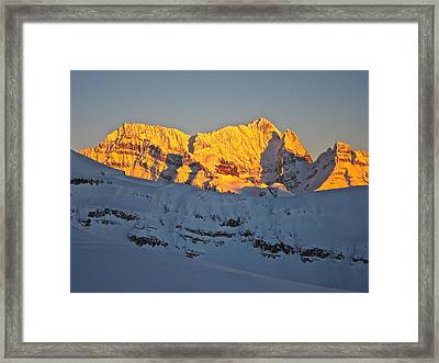 Alpenglow In Canada Framed Print