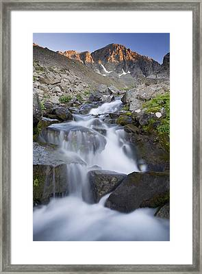Alpenglow On The Clearwater Mountains Framed Print by Carl R. Battreal