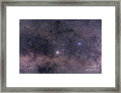 Alpha And Beta Centauri In The Southern Framed Print by Alan Dyer