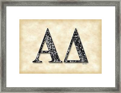Alpha Delta - Parchment Framed Print by Stephen Younts