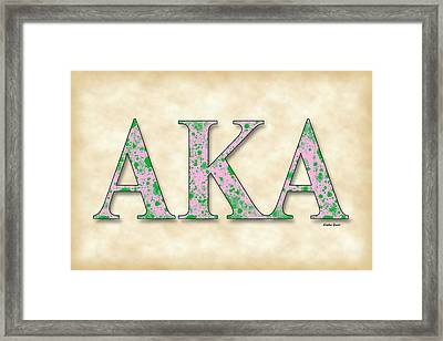 Alpha Kappa Alpha - Parchment Framed Print by Stephen Younts