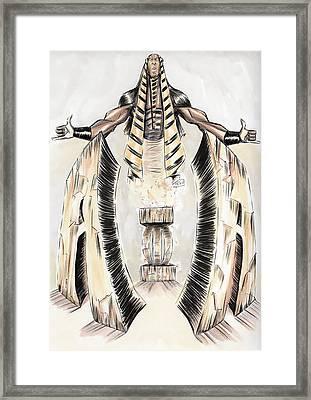 Alpha Pharaoh  Framed Print